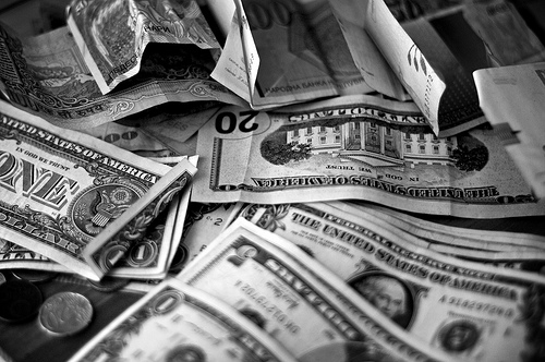 money-in-black-and-white
