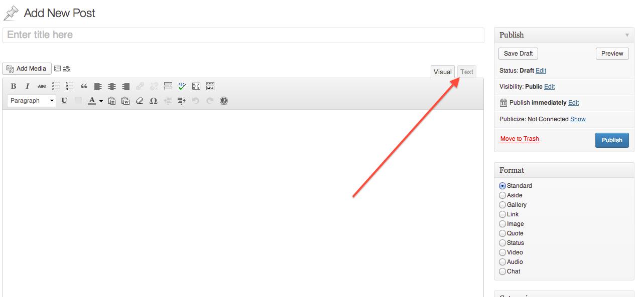 open_HTML_WordPress