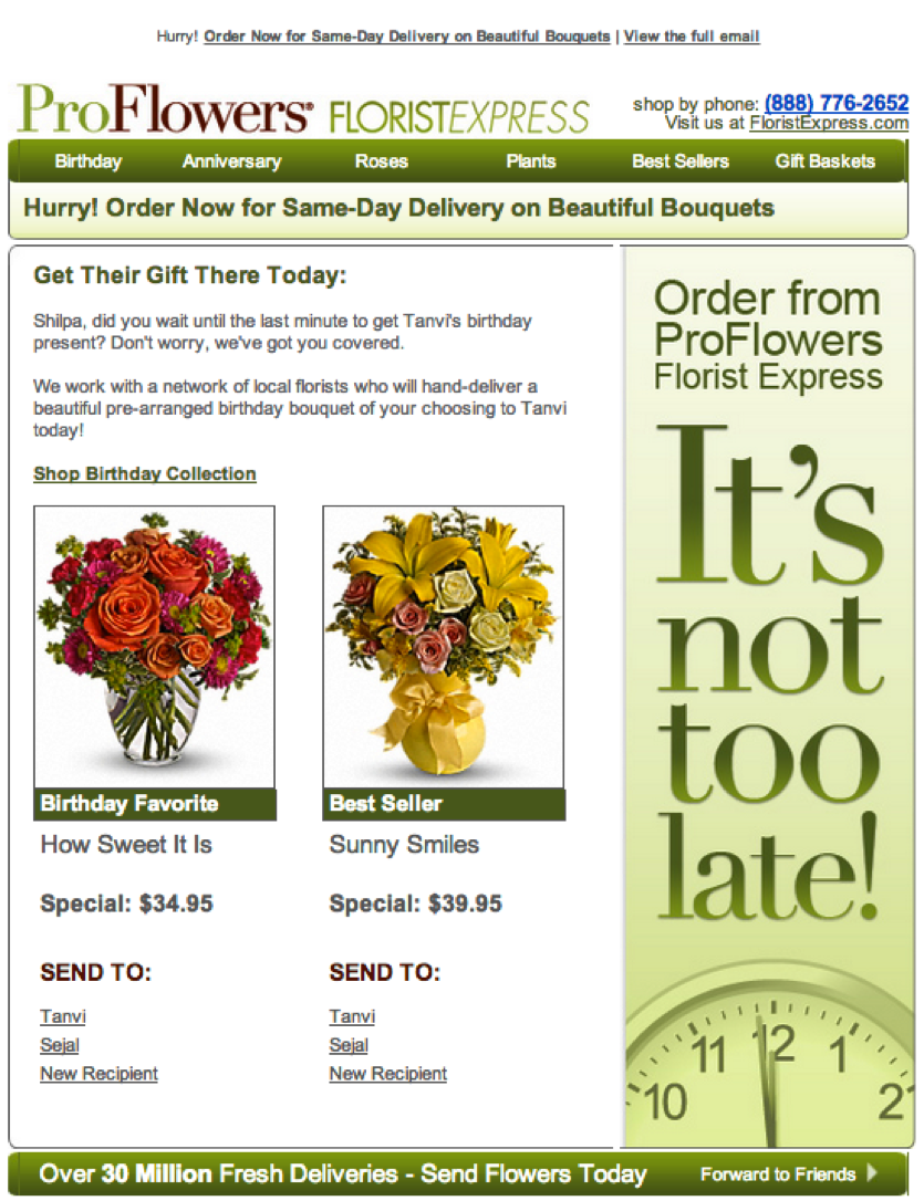 ProFlowers-email