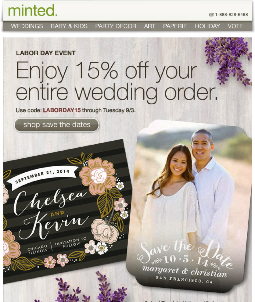 Minted-email