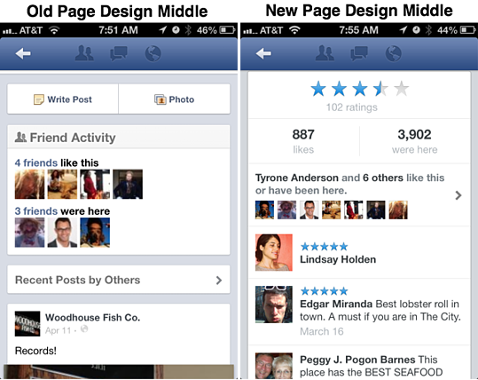 Facebook Launches New Mobile Design for Business Pages