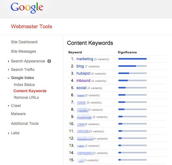 Content_Keywords-Google_Webmaster_Tools