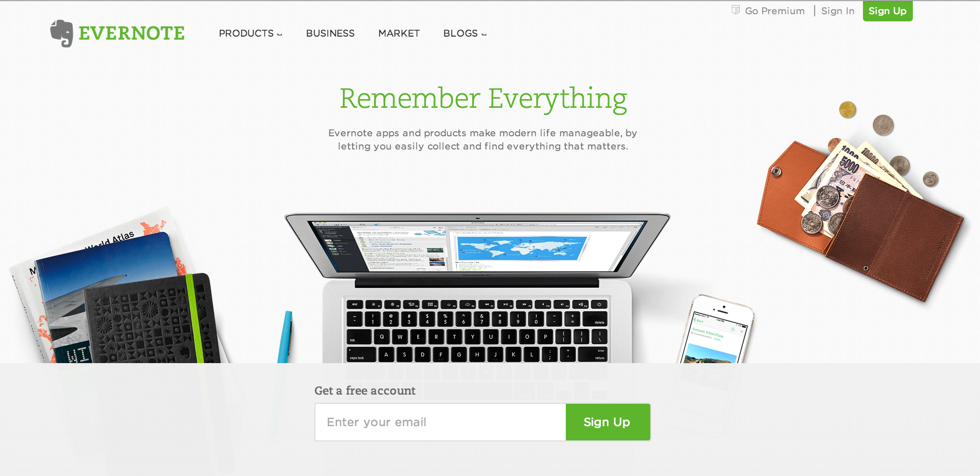 Evernote_home_page