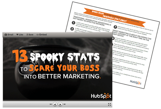 13 Spooky Stats to Scare Your Boss Into Better Marketing [SlideShare]