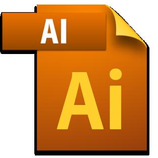 AI image file icon with Adobe Illustrator logo