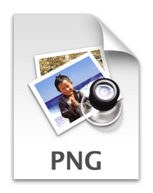 PNG image file icon