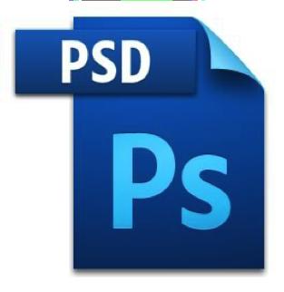 PSD image file icon with Adobe Photoshop logo