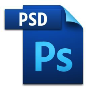 PSD image file icon with Adobe Photoshop logo