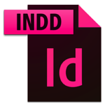 INDD image file icon with Adobe Indesign logo