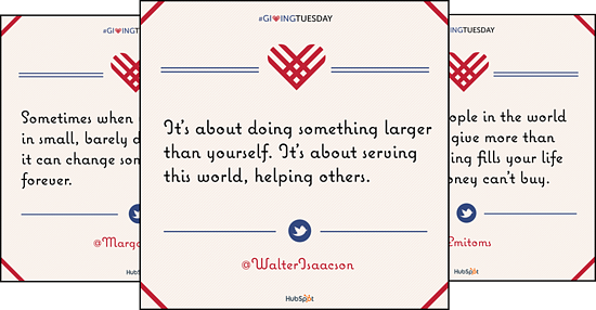 Giving Tuesday Marketing Kit - Quotes