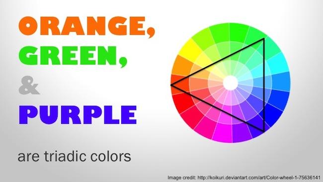 orange-green-purple