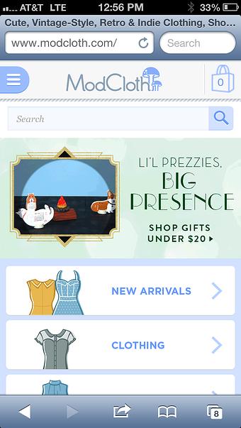 ecommerce responsive design example