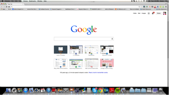 Screenshot of Google homepage taken on a Mac computer