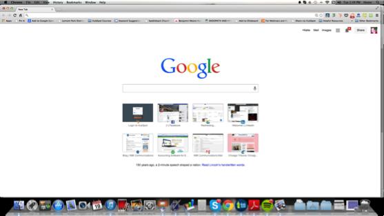 Screenshot of Google homepage taken on a Mac computer