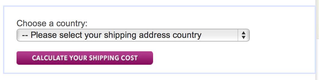 shipping calculator example