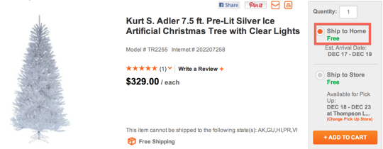 free shipping example