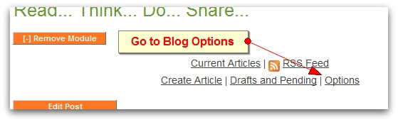 Get To Blog Options