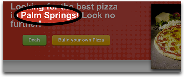 Localized Pizza Page