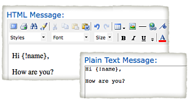 plain text versus html emails resized 600