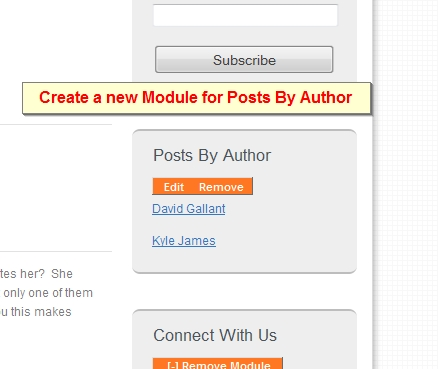 posts by author module