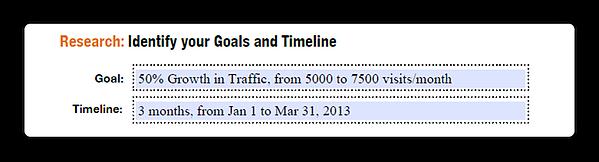 traffic growth goal
