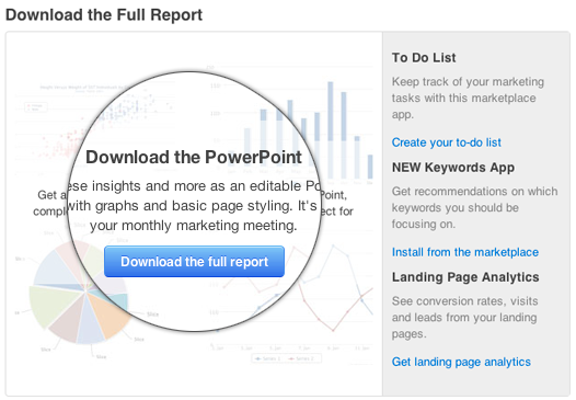 Announcing: Personalized Monthly Marketing Reports