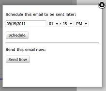 email scheduling