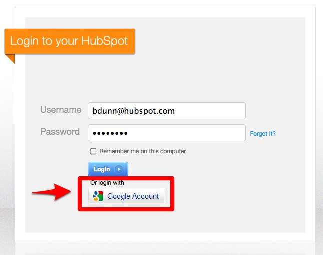 New Feature - Log in to HubSpot Using Your Gmail Credentials
