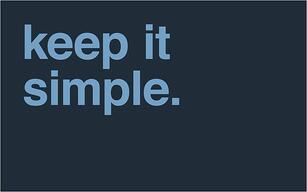 keep it simple blogger