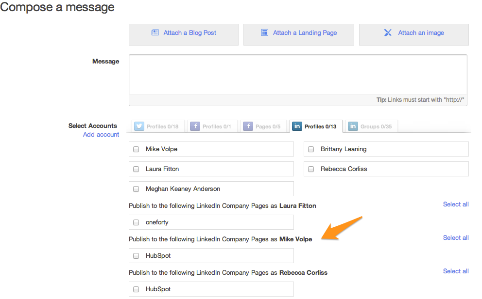 LinkedIn Company Pages Now Added to Social Media Publisher