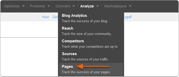 Pages in Navigation