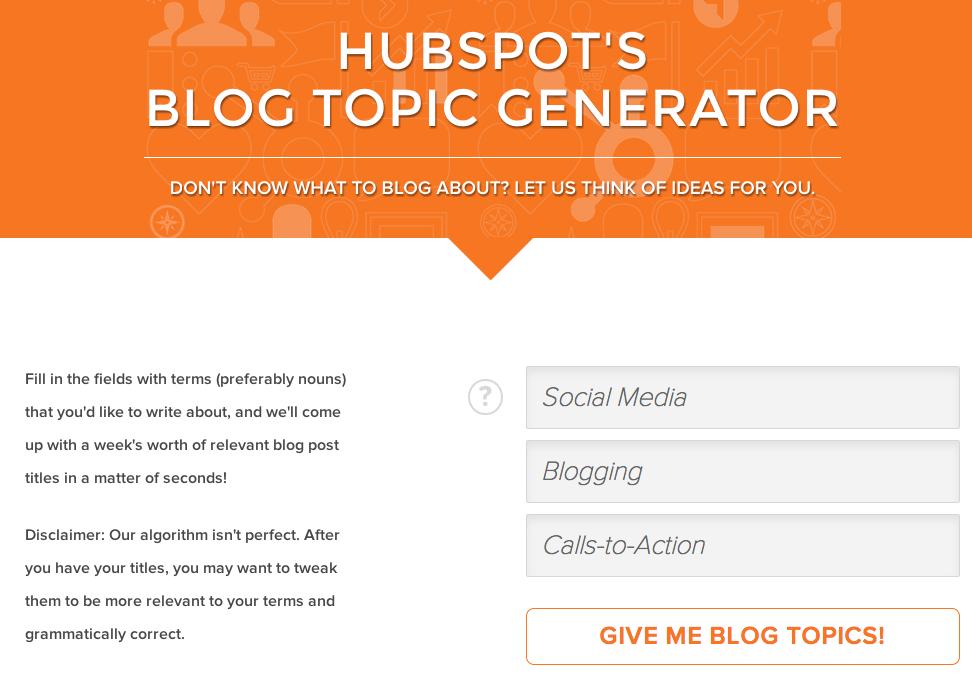 Tak tahu nak tulis apa dekat blog? dapatkan idea dari Hubspot