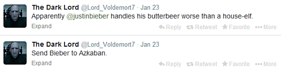 the dark lord voldemort on twitter