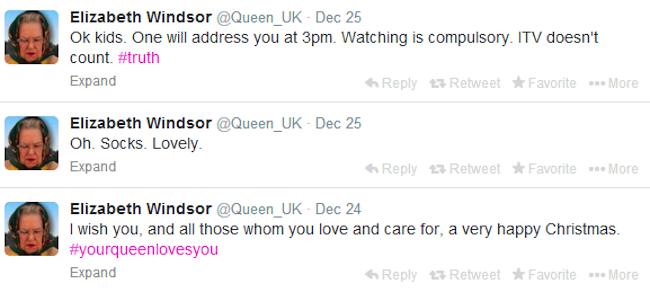 queen elizabeth windsor parody twitter account