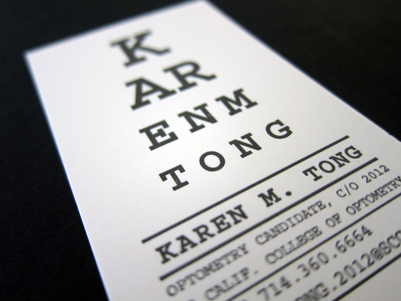 10 inspired business card designs too useful to throw away similarly functional this optometrist turned her business card into an eye chart if youre having trouble making out any of the rows make an appointment colourmoves