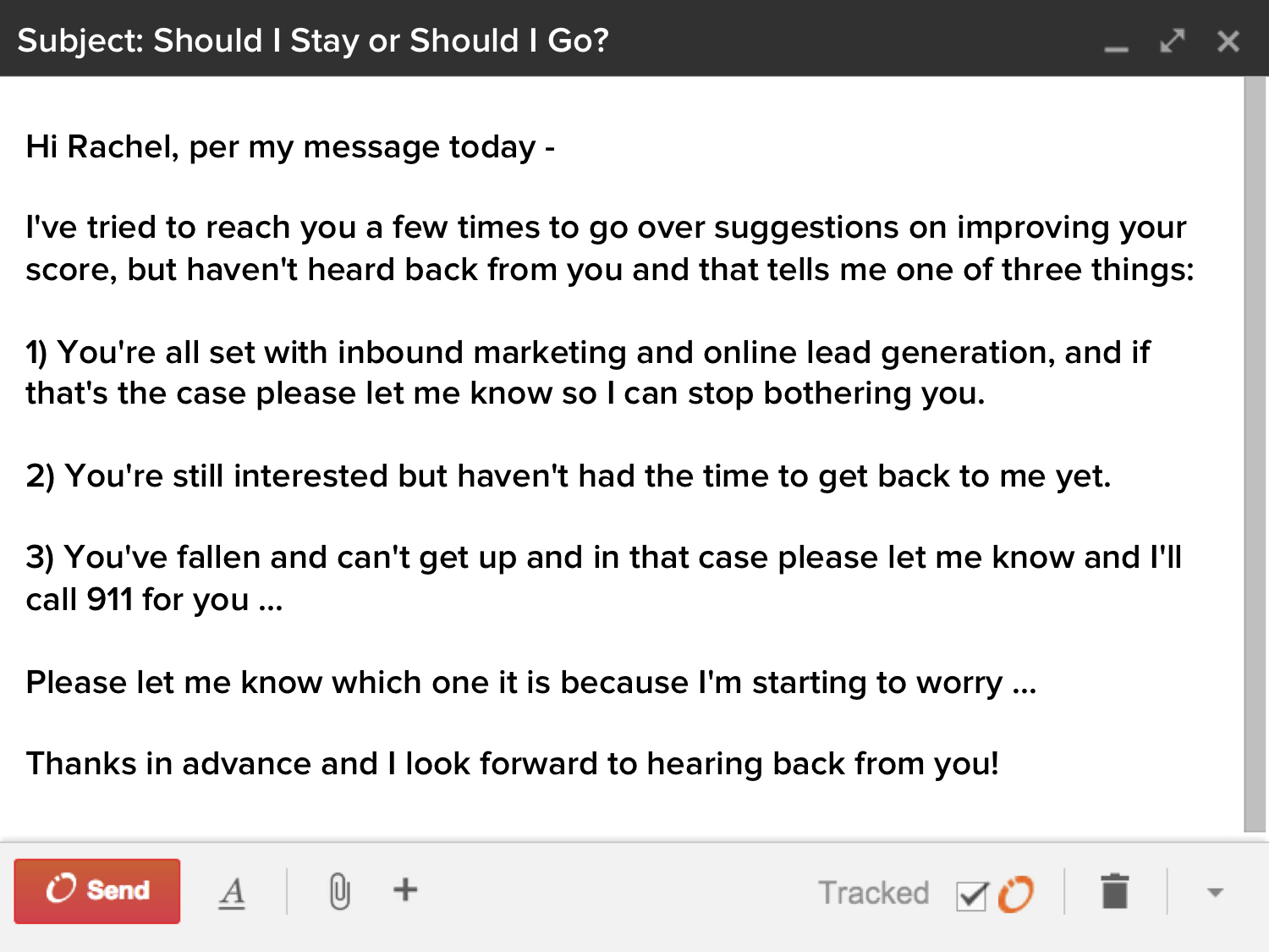 how to write a follow up email