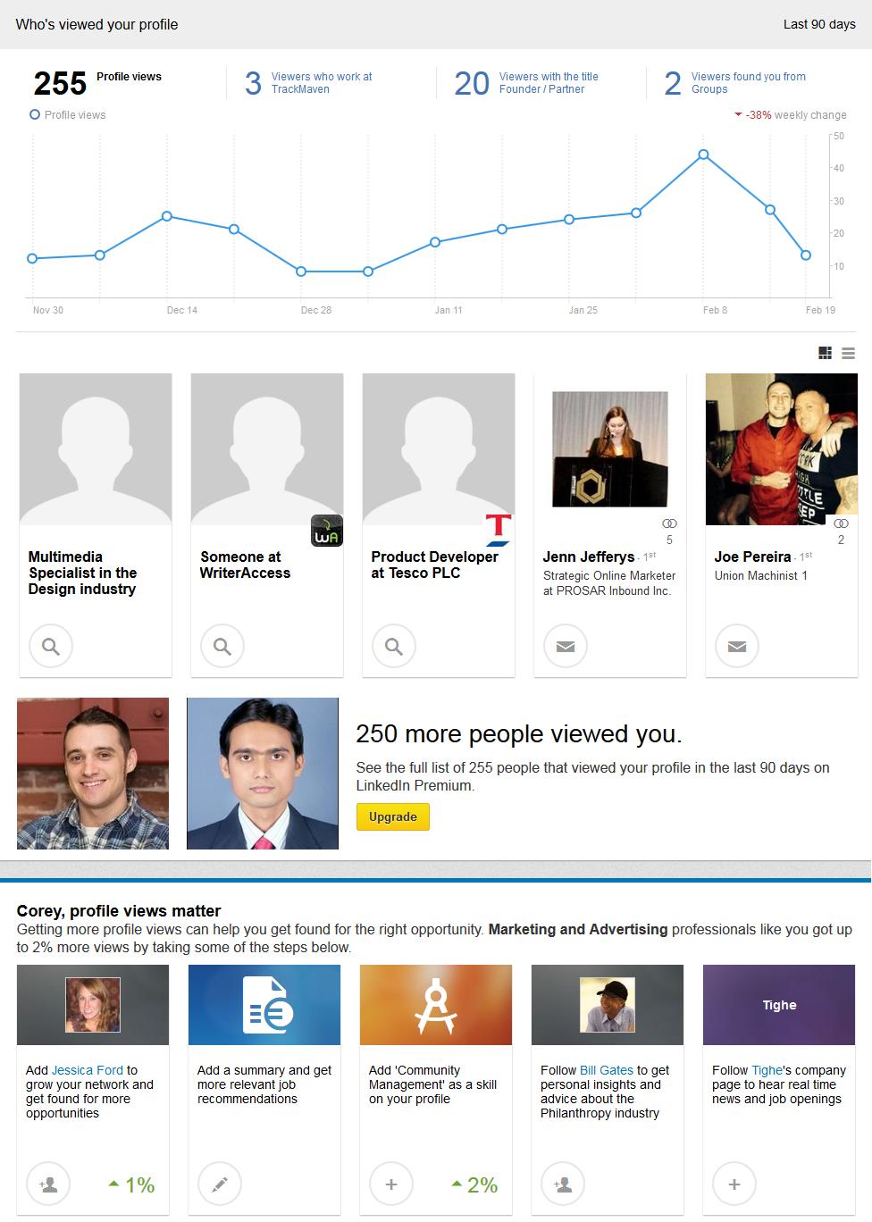 Good News for Creepers: LinkedIn Upgrades