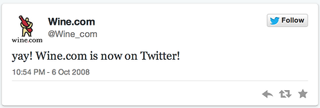 wine.com first tweet