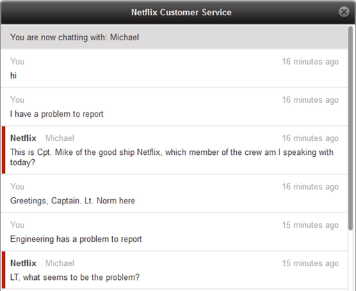 netflix customer service example