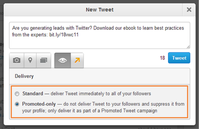Create your promoted tweets