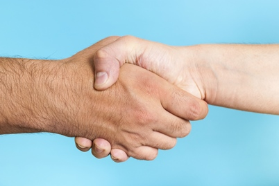 handshake-blue-background