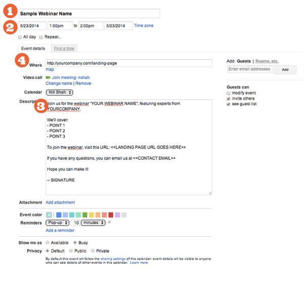 How to insert google calendar invites in your marketing emails googlecalendarinvite1 197406 edited stopboris Images