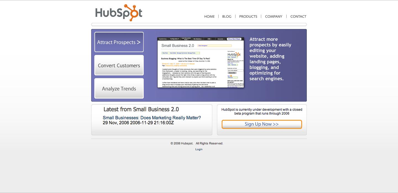 HubSpot_Homepage_2006