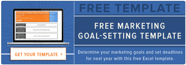 how to set smart marketing goals free template page