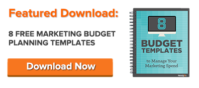 8 essential budget templates for marketers free download page