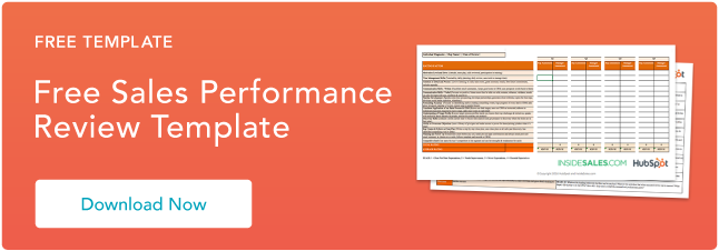 The Sales Manager S Guide To Performance Reviews Free Template