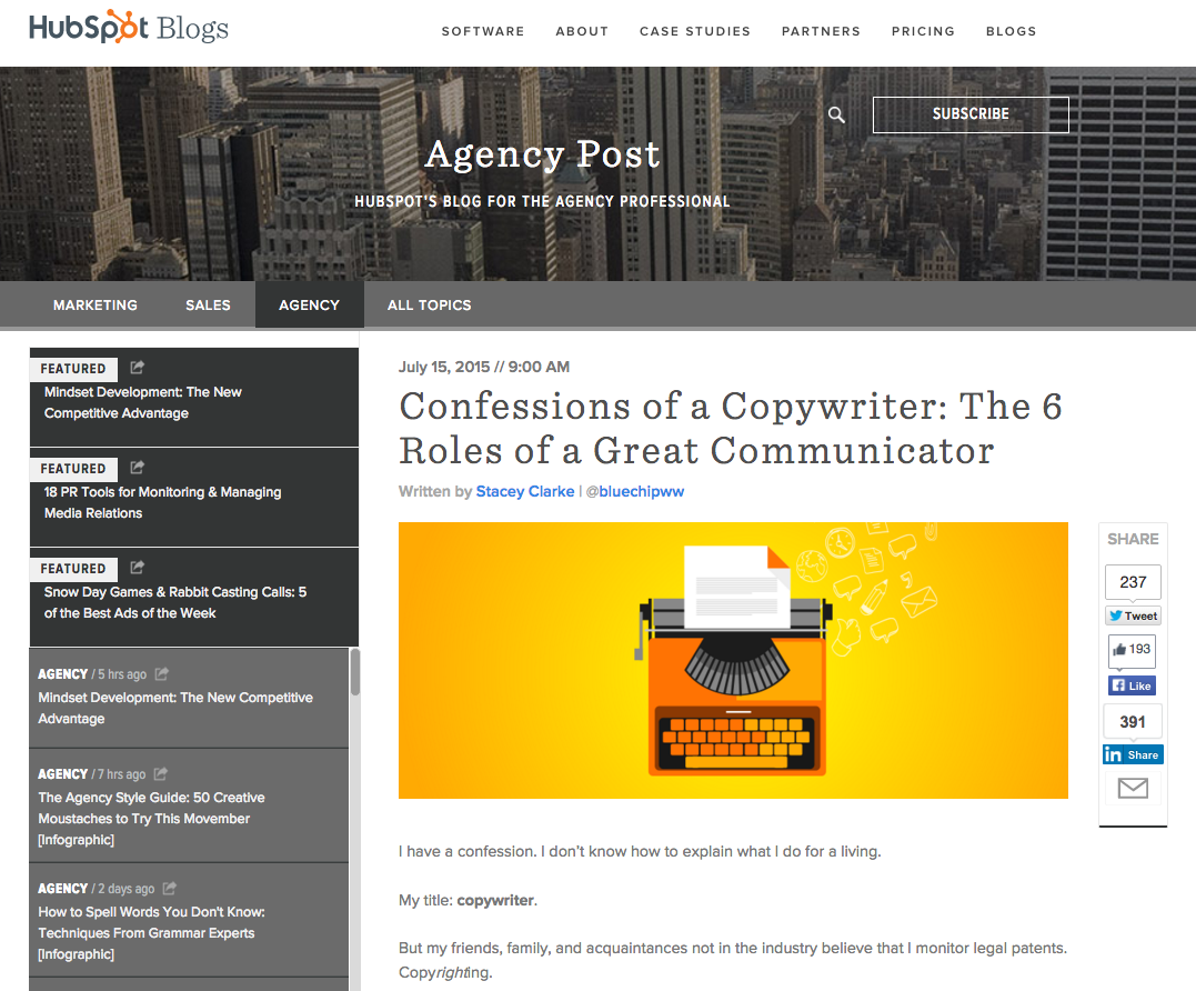Agency Content Guest Blogging Guidelines