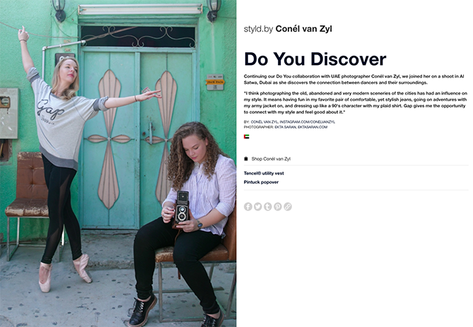 GAP's Styld.by influencer marketing campaign