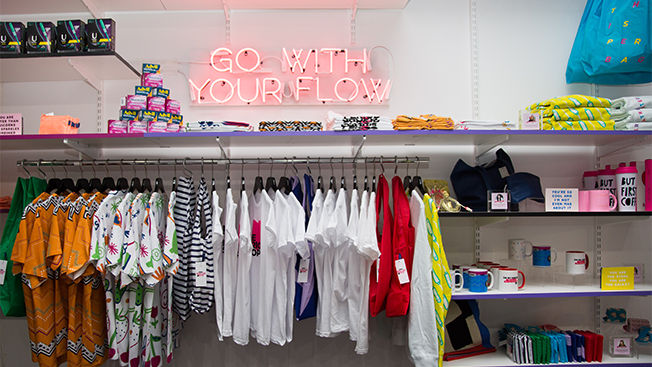 The Period Shop  15 Creative Examples of Branded Pop-Up Shops go with your flow hed 2016