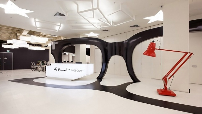 ad agency office design. The New Space Is Anchored By An Enormous Sculpture Of Leo Burnett\u0027s Iconic Glasses -- Homage To Their Founder And Namesake, Late Burnett. Ad Agency Office Design